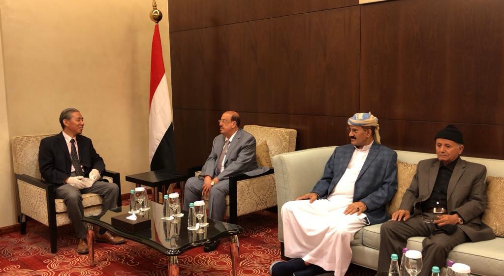 البركاني يلتقي السفير الصيني لدى اليمن